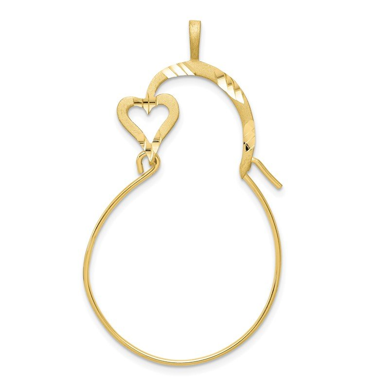 Quality Gold 10k Small Heart Charm Holder