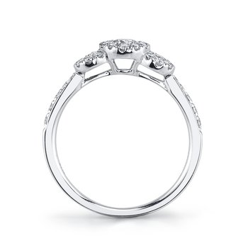 MARS 26105 Diamond Engagement Ring, 0.54 Ctw.