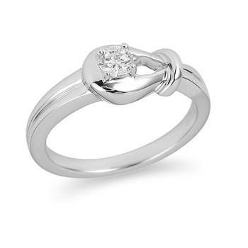 14K WG Diamond Solitaire Ring