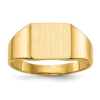 14k 8.0x7.0mm Closed Back Signet Ring