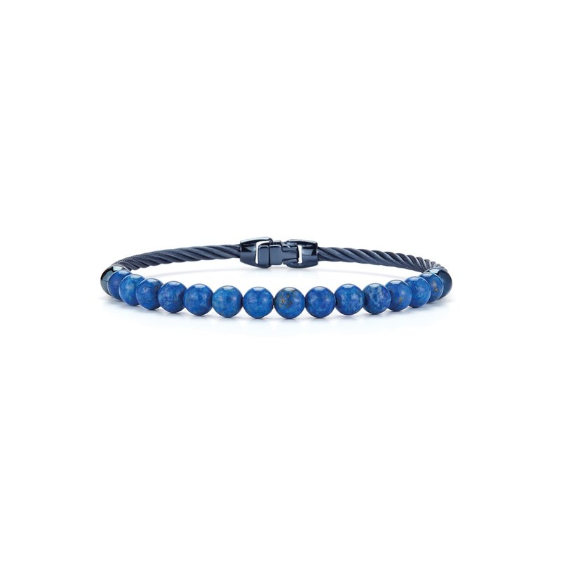 ALOR Single Row Blueberry Cable & Blue Lapis Bracelet