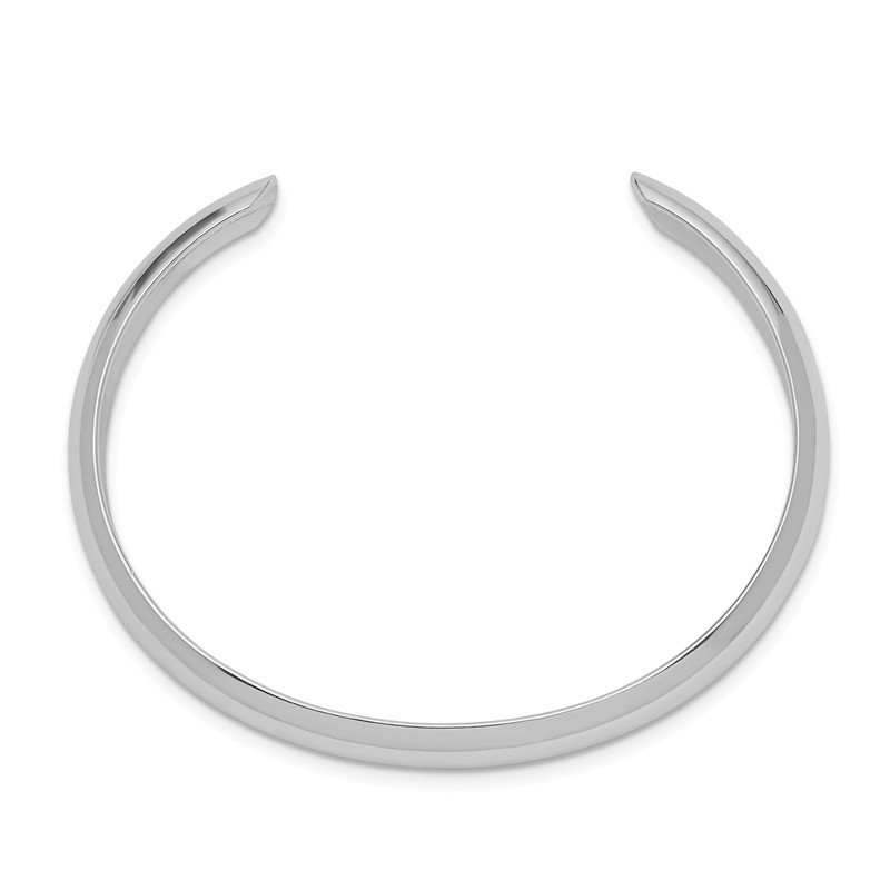 Quality Gold Sterling Silver Rhod. Plated Polished Domed Cuff Child's Bangle