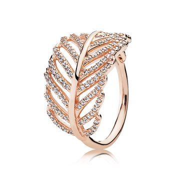 Light As A Feather Ring, Pandora Rose™ Clear Cz