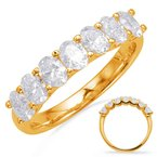 S. Kashi & Sons Bridal Yellow Gold Oval Diamond Band