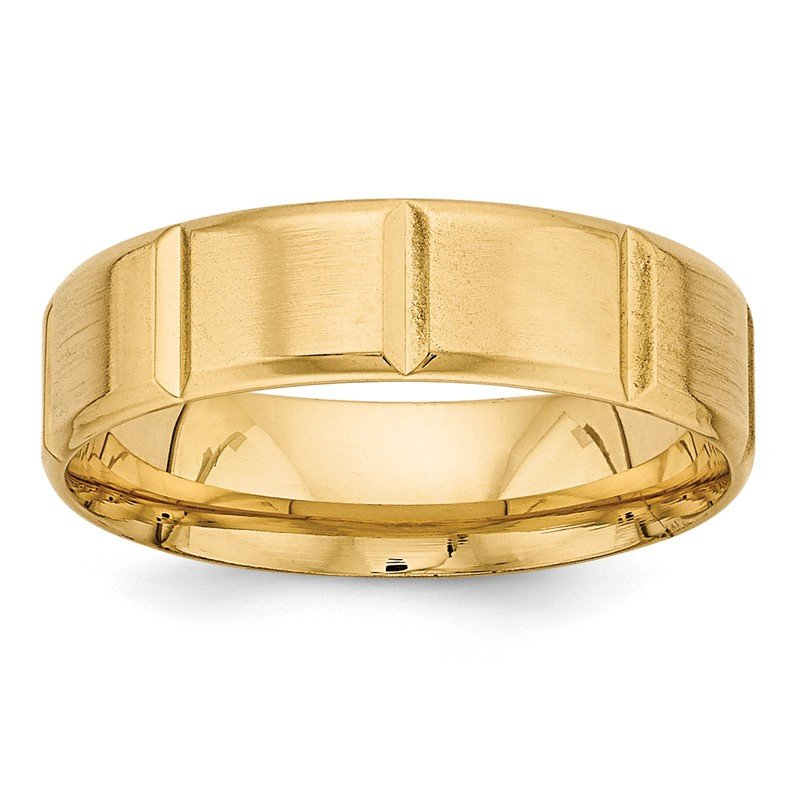 Lester Martin Online Collection 14k Yellow Gold Standard Comfort Fit Fancy Band