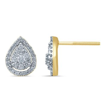 14K 0.31Ct Diamond Earring
