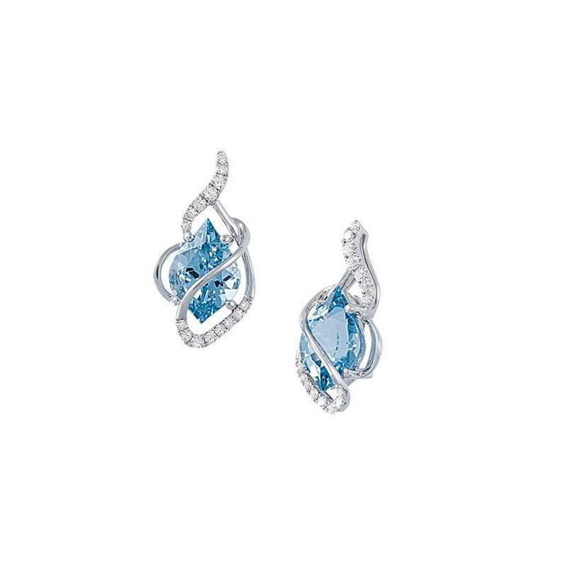 Chatham Aqua Blue Spinel Earrings-CE3733WAQ