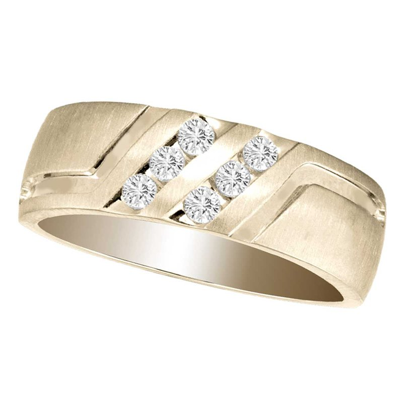 Low Cost Luxury 14K 0.25Ct Diam Men&Apos;S Band