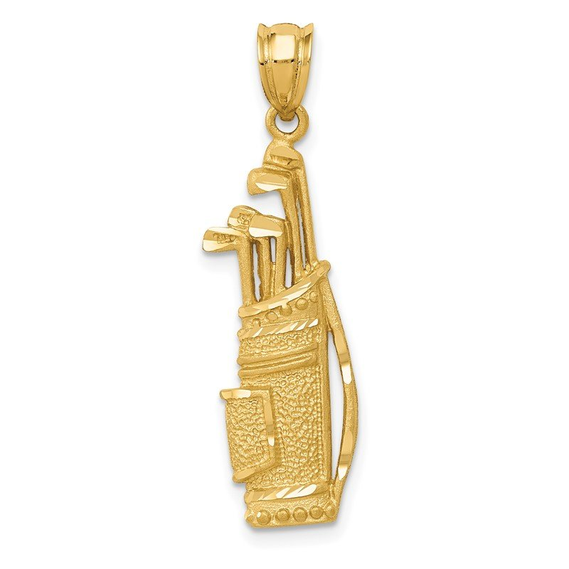 Quality Gold 14k Golf Bag Charm
