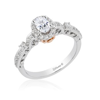 14KWP 3/4CTW Belle Bridal Ring