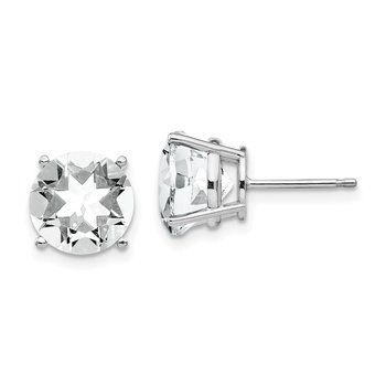 14k White Gold 10mm Cubic Zirconia Earrings
