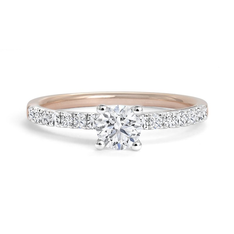 Canadian Rocks Engagement Ring with Pavé Diamonds