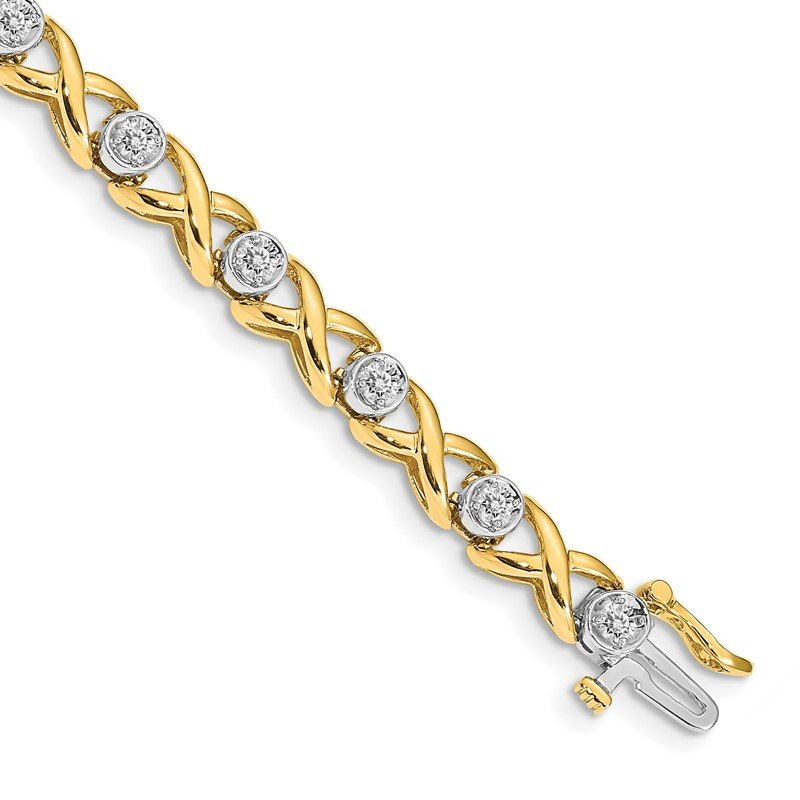 Quality Gold 14k AA Diamond Tennis Bracelet