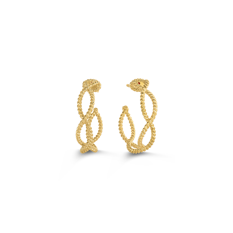 Roberto Coin Hoop Earrings &Ndash; 18K Yellow Gold