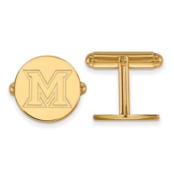 Gold-Plated Sterling Silver Miami University NCAA Cuff Links
