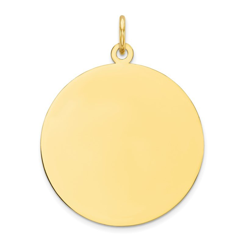 Quality Gold 10K Plain .018 Gauge Circular Engravable Disc Charm