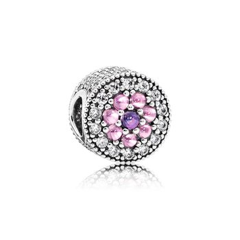 Dazzling Floral, Multi-Colored Cz