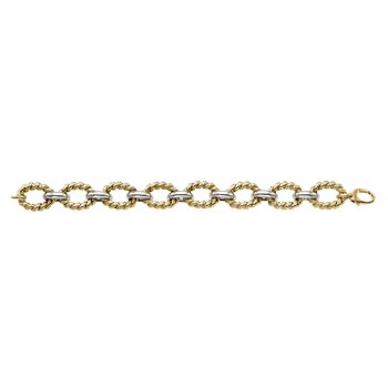 14K Gold The Jackie Oval Twisted Link Bracelet