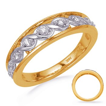 White & Yellow Gold Diamond Wedding Band