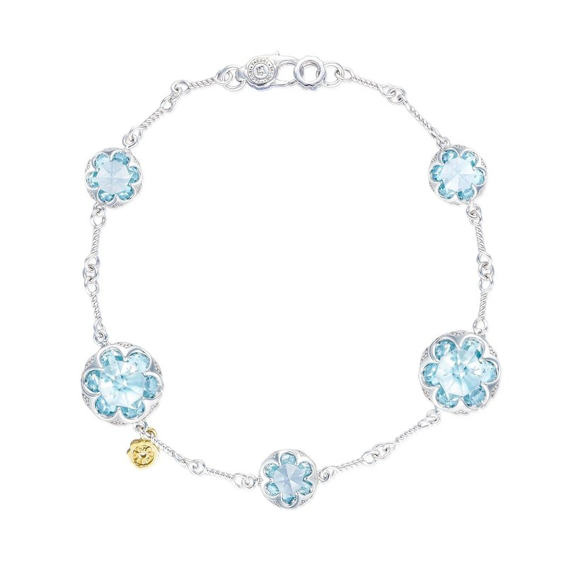 Tacori Fashion Multi Gem Chain Bracelet featuring Sky Blue Topaz