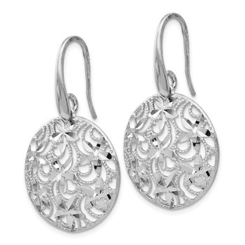 Leslie's Sterling Silver Polished & Textured Earrings