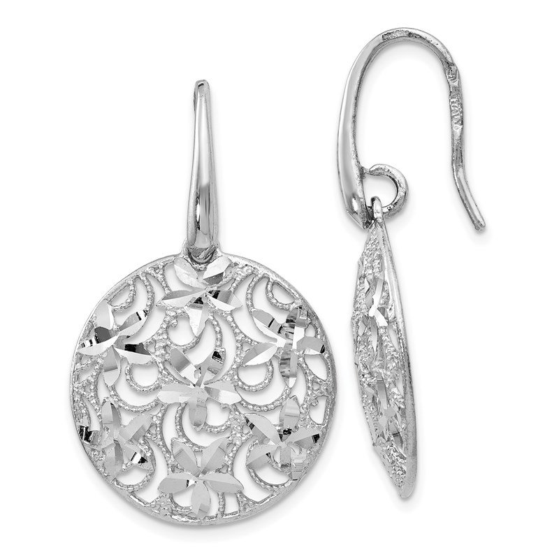 Leslie's Leslie's Sterling Silver Polished & Textured Earrings