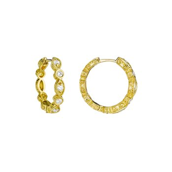 Marquise & Round Hoop Earrings