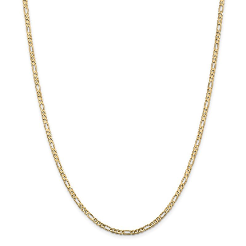 Quality Gold 14k 3mm Concave Open Figaro Chain