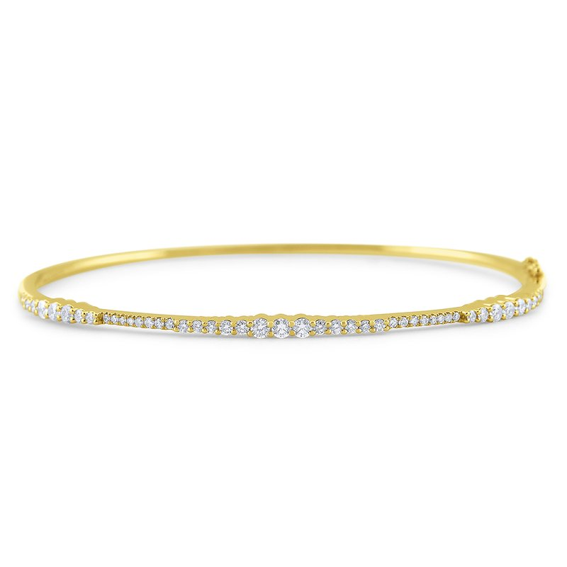 KC Designs 14k Gold and Diamond Hinged Bangle Bracelet