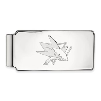 Sterling Silver San Jose Sharks NHL Money Clip
