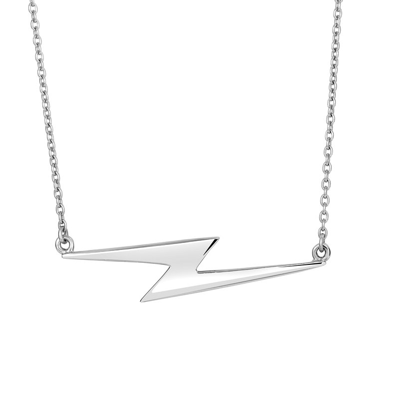 Royal Chain Silver Lightning Bolt Necklace