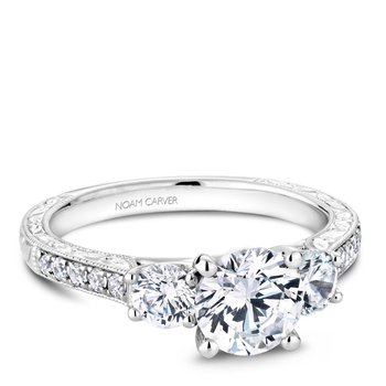 Noam Carver 3 Stone Engagement Ring B206-01A
