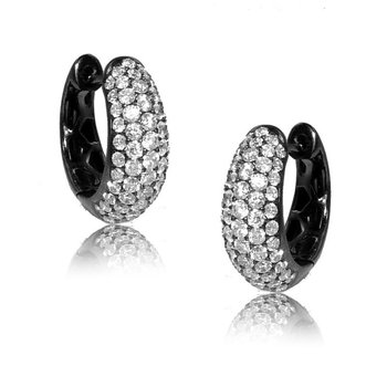 Diamond Pave Small Hoops