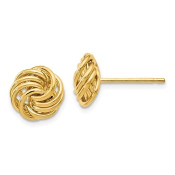 Leslie's 14k Polished Love Knot Post Earrings