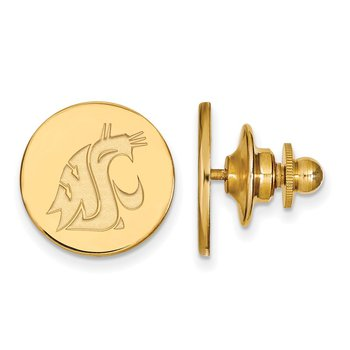 Gold Washington State University NCAA Lapel Pin