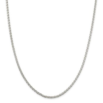 Sterling Silver 2.75mm Diamond-cut Spiga Chain