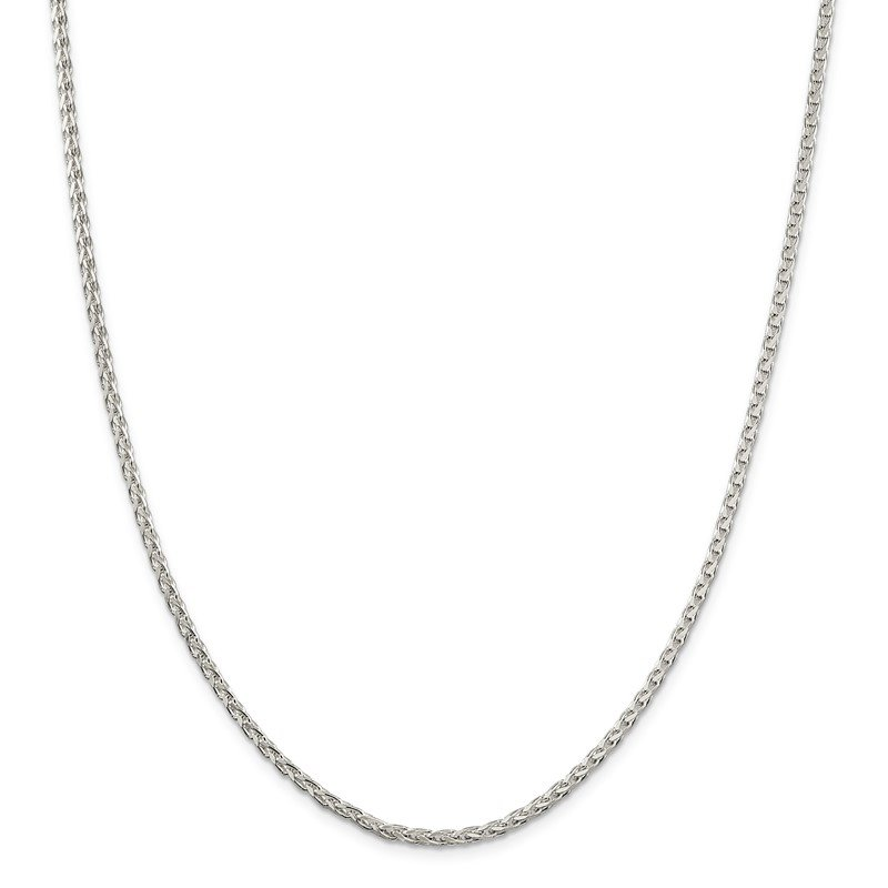 Quality Gold Sterling Silver 2.75mm Diamond-cut Spiga Chain