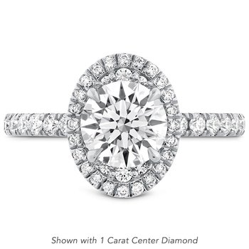 0.51 ctw. Juliette Oval Halo Diamond Engagement Ring