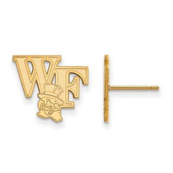 Gold Wake Forest University NCAA Earrings
