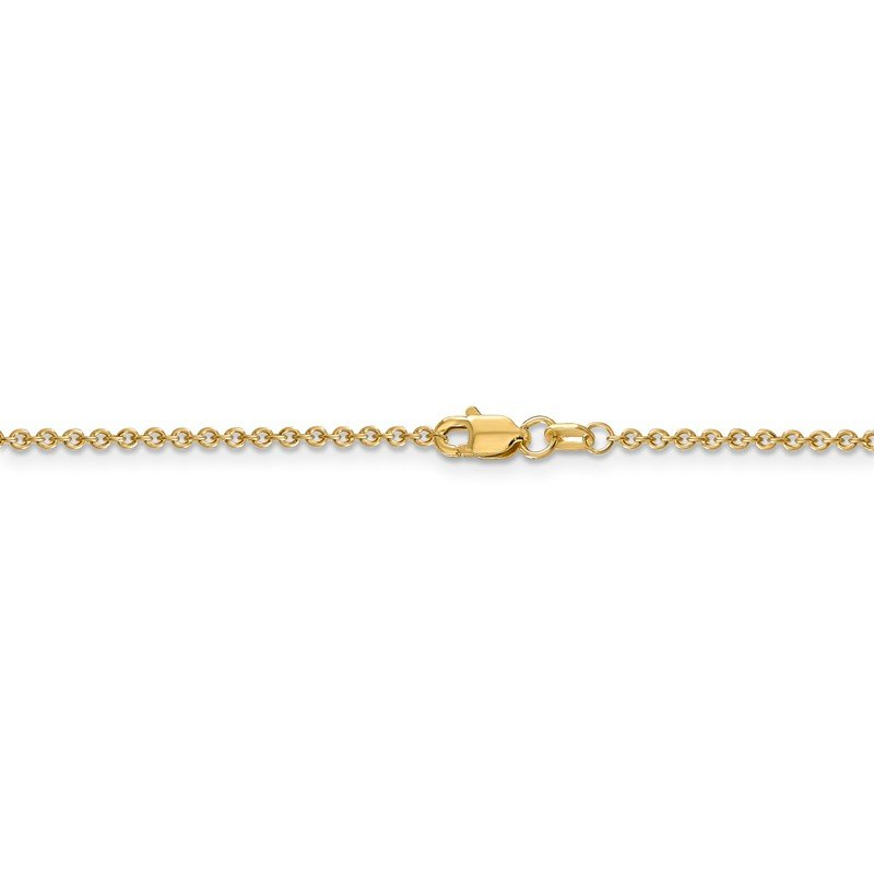 Quality Gold 14k 1.6mm Round Open Link Cable Chain