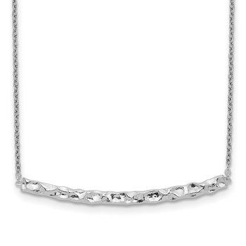 Sterling Silver Hammered Bar Adjustable Necklace