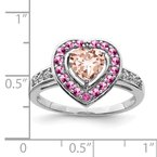 J.F. Kruse Signature Collection Sterling Silver Rhodium Morganite Heart Ring