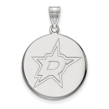 Sterling Silver Dallas Stars NHL Pendant