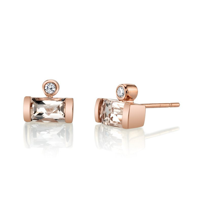 MARS Jewelry MARS 27264 Stud Earrings, 0.06 Dia, 1.06 Morganite