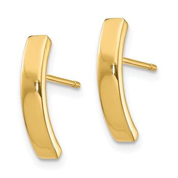 14k Curved Bar Post Earrings