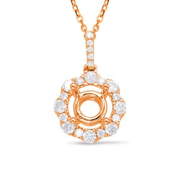 Diamond Pendant For 0.75ct Round Center