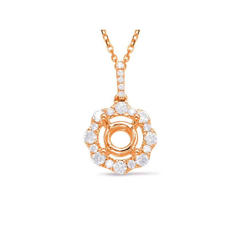 S. Kashi  & Sons Diamond Pendant For 0.75ct Round Center