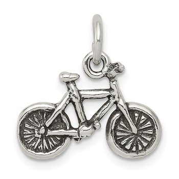 Sterling Silver Antiqued Bicycle Charm