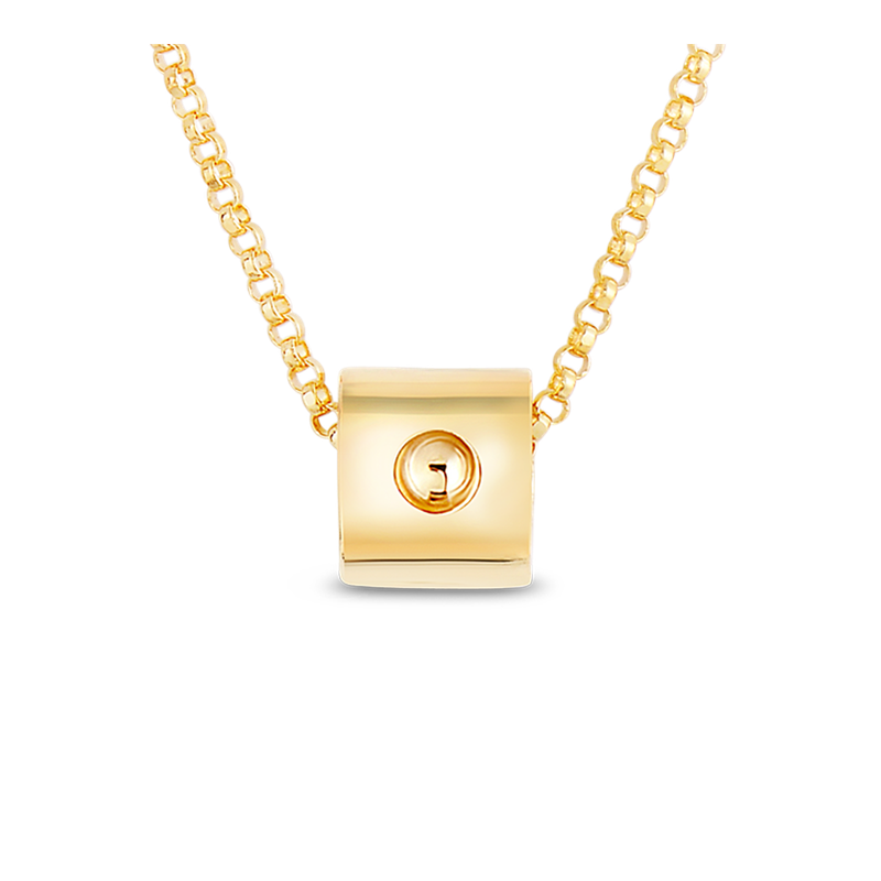 Roberto Coin 18Kt Pois Moi Mini Cube Necklace