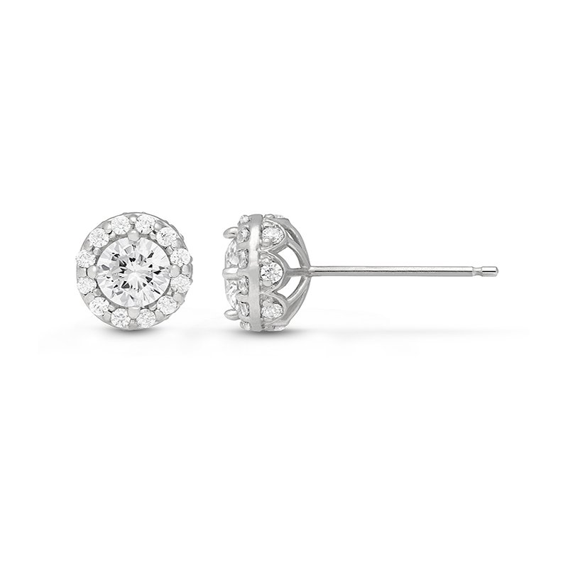 Veer Diamonds LANTANA HALO EARRINGS